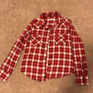 Tops - Red black and white flannel